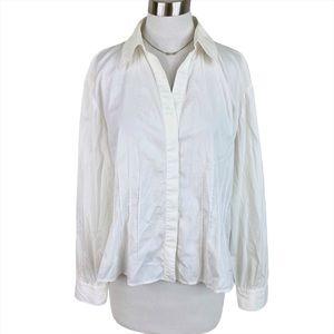 Lafayette 148 Button Down Collared Dress Shirt 14